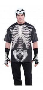 T- shirt squelette Halloween taille unique