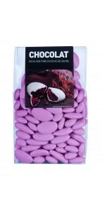 Dragées chocolat Rose nacré  500 gr