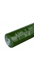 Nappe vert sapin papier damassé 6 m