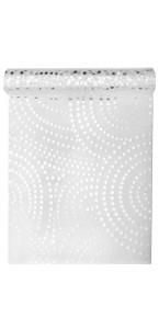 Chemin de table Line blanc 28 cm  x  5 m