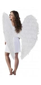 Ailes d'ange blanches géantes halloween 120 cm