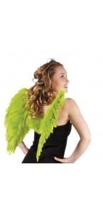 Ailes d'ange vert pour adulte taille 50 cm