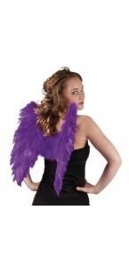 Ailes d'ange violettes pour adulte taille 50 cm