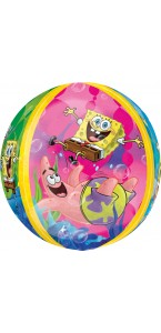 Ballon Bob L'éponge ORBZ 38 x 40 cm
