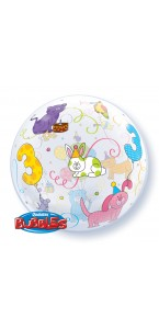 Ballon Bubble 3 ans transparent
