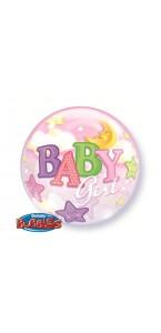 Ballon Bubble Bébé fille 55 cm
