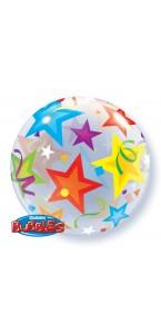Ballon Bubble étoiles transparent