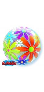 Ballon Bubble Fleurs 55 cm