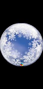 Ballon Bubble Flocon de neige 60 cm
