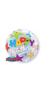 Ballon Bubble Happy Birthday 55 cm