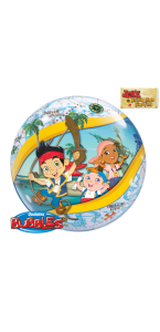 Ballon Bubble Jake le Pirate transparent