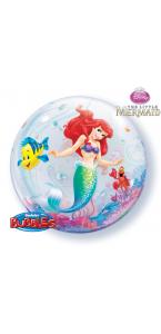Ballon Bubble La Petite Sirène transparent