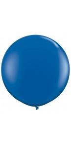Ballon de baudruche géant en latex  opaque bleu