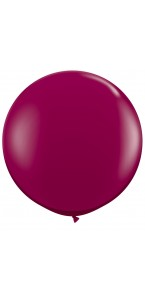 Ballon de baudruche géant en latex  opaque bordeaux