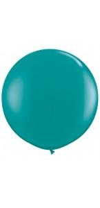 Ballon de baudruche géant en latex  opaque turquoise