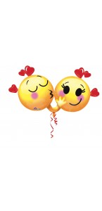 Ballon Emoticon in love 91 x 43 cm