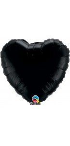 Ballon Forme Cœur en aluminium noir