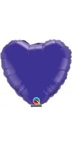 Ballon Forme Cœur en aluminium violet