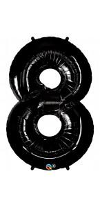 Ballon forme chiffre 8 aluminium  noir