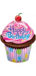 Ballon Gâteau d'anniversaire aluminium