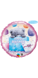 Ballon happy birthday ourson en aluminium