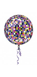 Ballon Happy New Year Boule Disco ORBZ 36 x 40 cm