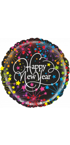 Ballon Happy New Year confettis 45 cm