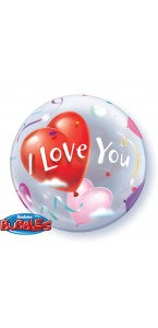 Ballon I love you Bubble transparent