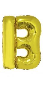 Ballon lettre B aluminium or