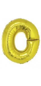 Ballon lettre O aluminium or