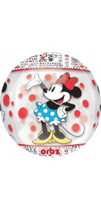 Ballon Minnie Clear Orbz 38 x 40 cm