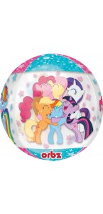 Ballon Mon petit poney Clear Orbz 38 x 40 cm