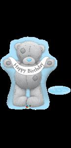 Ballon ourson bannière anniversaire