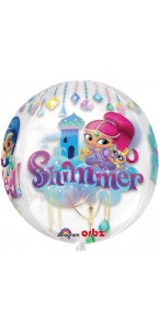 Ballon Shimmer & Shine Clear Orbz 38 x 40 cm