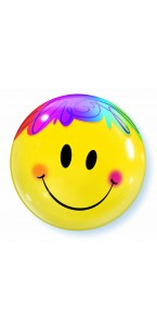 Ballon Smiley sourire Bubble transparent