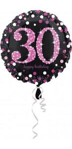 Ballon Sparkling Celebration rose Birthday 30 ans