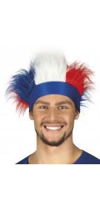 Bandeau France avec cheveux bleu blanc rouge