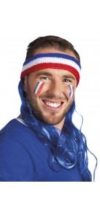 Bandeau France avec cheveux bleus