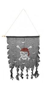 Bannière pirate 47x42 cm