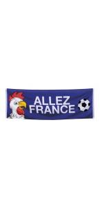 Bannière tricolore Allez France74 x 220 cm