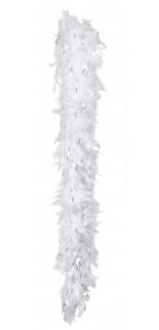 Boa en plumes blanc et argent