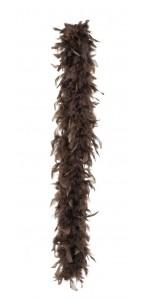 Boa en plumes chocolat