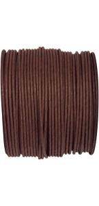 Bobine de cordon laitonné papier chocolat