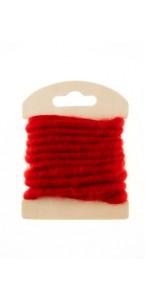 Bobine de laine rouge 3 m