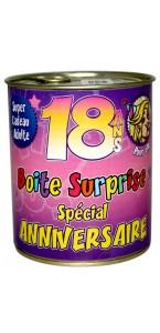 Boîte surprise anniversaire Femme 18 ans
