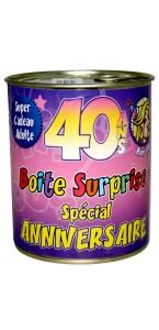 Boîte surprise anniversaire Femme 40 ans