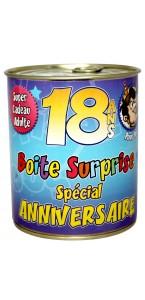 Boîte surprise anniversaire Homme 18 ans