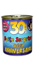 Boîte surprise anniversaire Homme 30 ans