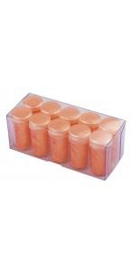 Boîte verseuse paillettes fluo orange 14 ml