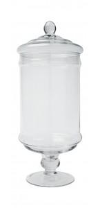 Bonbonnière Nostalgie en verre 14,5 x 34 cm